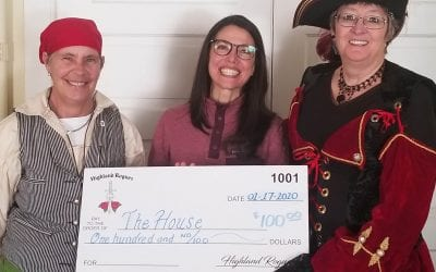 Highland Rogues Donate to The House
