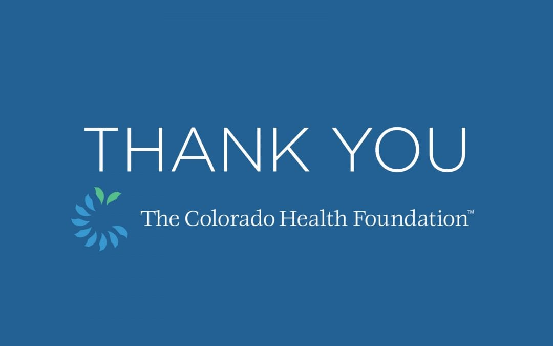 $75,000 Grant Received from The Colorado Health Foundation